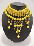 1960's Acid yellow plastic vintage collar.